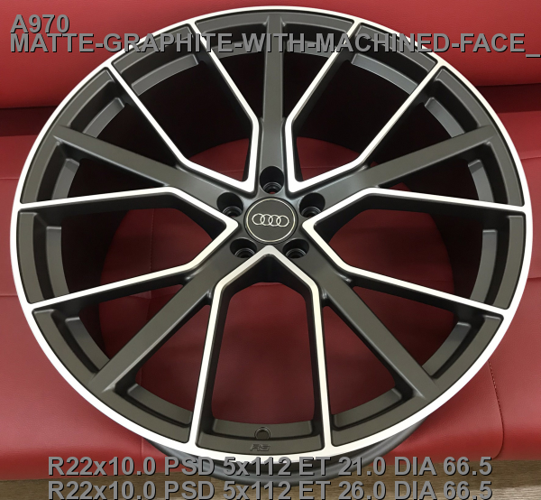 22_5x112_21_10.0J_h 66.5_ REPLICA AUDI A970_MATTE-GRAPHITE-WITH-MACHINED-FACE_FORGED