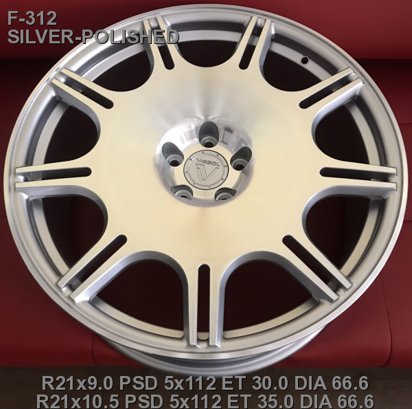 21_5x112_30_9.0J_h 66.6_ VISSOL FORGED F-312_ VISSOL FORGED SILVER-POLISHED