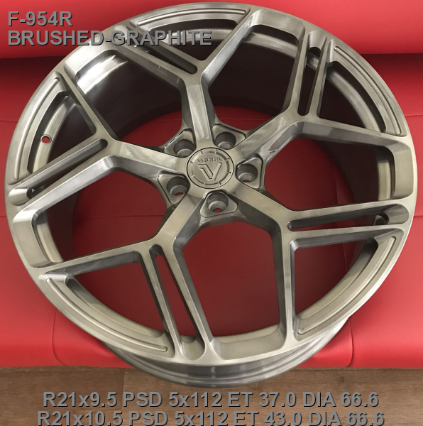 21_5x112_37_9.5J_h 66.6_ VISSOL FORGED F-954R_BRUSHED-GRAPHITE