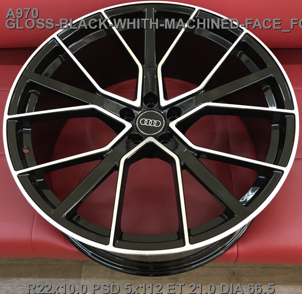 22_5x112_21_10.0J_h 66.5_ REPLICA AUDI A970_GLOSS-BLACK-WHITH-MACHINED-FACE_FORGED